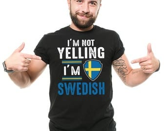 Sweden T-Shirt Funny Swedish Patriot Sweden Flag Birthday Gift Ideas Tee Shirt
