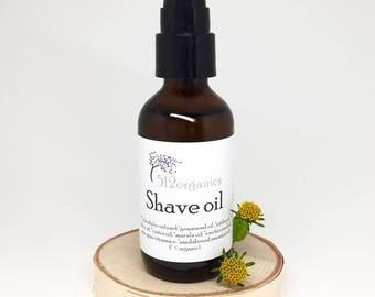 Shave oil - lubricating, softening, nourishing