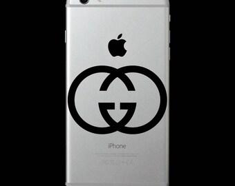 Gucci fashion designer logo symbol Vinyl Decal/iphone skin/cell phone sticker/laptop/macbook/yeti tumbler/car/tablet/iPad/Surface