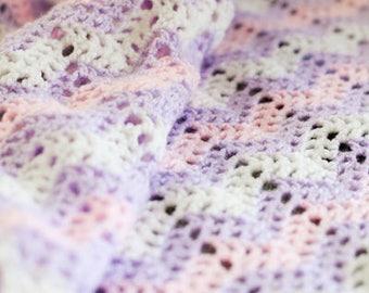 Crochet Baby Blanket - Chevron - Crochet Baby Afghan