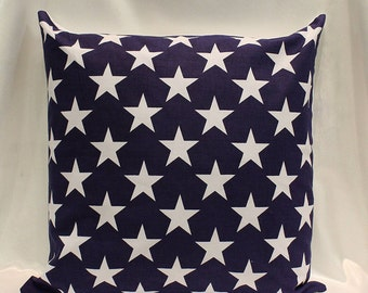Star Cushion Cover - Navy blue 100% Cotton.