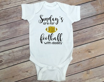 Football Bodysuit - Sunday's are for Football - Baby Girl Outfit - Baby Girl Clothes