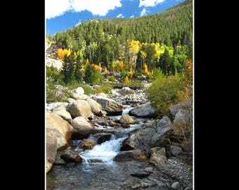 Colorado - Rocky Mountain Waterfall in Autumn