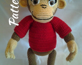 PATTERN - Chimp George - Crochet Amigurumi Pattern