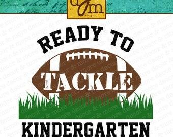 KINDERGARTEN SVG FILE. Back to School Svg File. First Day of School Svg File. Kindergarten Shirt. Kindergarten Decal. Kindergarten Football.