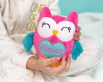 Personalized Easter Toy, Gift for Baby Girl, Soft Toys for Kids, Stuffed Owl, Handmade Stuffed Toy, Personalized Stuffed Animals for Babies
