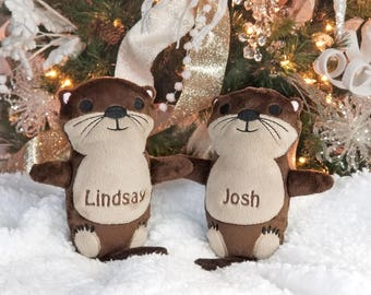 Anniversary Gifts for Wife, Otters Holding Hands, Christmas Gift for Newlyweds, Personalized Engagement Gift, Otter Gift, Christmas Gifts
