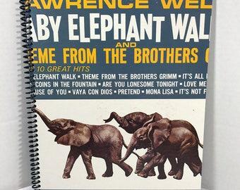 Lawrence Welk Baby Elephant Walk Album Cover Notebook Handmade Spiral Journal Blank Composition Book