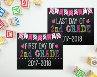 School Sign - 1st Day of School - 2nd Grade Sign - First Day of School Printable - Last Day of School - First Day Sign - School Photo Prop