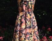 Vintage 1970s floral cott...