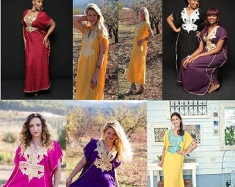 Kaftan dress, Bohemian dress, Caftan maxi dress, Long dress, Abaya, Cotton caftan, Coverup, Moroccan kaftan, Maternity dress