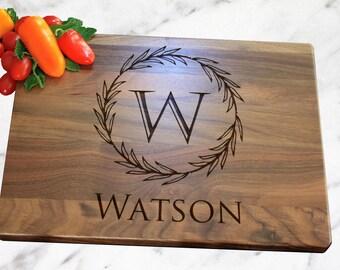 Personalized Cutting Board, Custom Cutting Board, Engraved Cutting Board, Monogrammed Cutting Board, Custom Wedding Gift