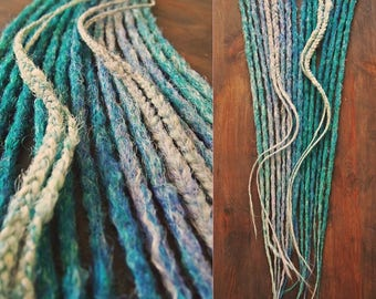 Lilac Sea 9x double ended synthetic dreads accent kit