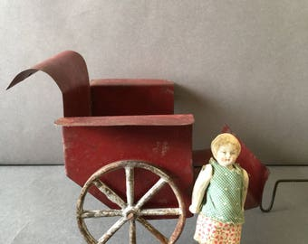 Vintage Tin Doll Push Chair