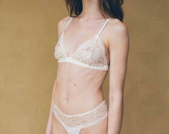 Frenchie French Lace Underwear Pink & Purple