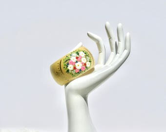 Bennet Hand Painted Floral Wooden Bracelet
