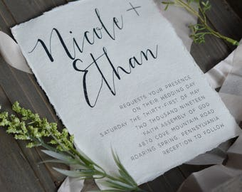 ELEGANT | #0417 Wedding Invitations