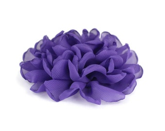 Purple Dog Collar Flower, Purple Collar Flower Attachment, Purple Collar Flower Add On, Purple Collar Flower Accessory, Dog Collar Flower