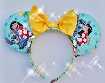 Lilo & Stich Ears Ohana Nobody Gets Left Behind or Forgotten Lilo Stitch Ears