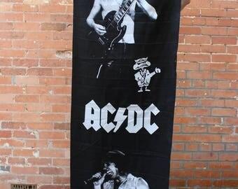 AC/DC Original 1988 NOS Rock Banner Flag