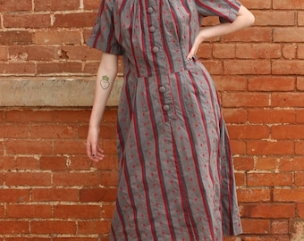 Home Sewn 1960s Vintage Dress