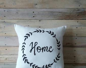 Home Decorative Pillow Cover, Farmhouse Pillow, Pillow Cover, Throw Pillow, Decorative Pillow, Accent Pillow, Black and White Pillow