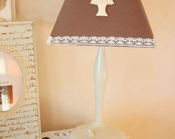 Romantic - basket of flowers and lace - atmosphere shabby chic Lampshade