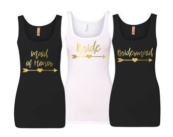 Bridesmaid Shirts, Bridesmaid Tank Tops, Bridesmaid Gift, Wedding Tank Tops, Bachelorette Party Shirts