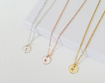 initial necklace, personalised necklace, birthday gift, anniversary gift, christmas gift, gold necklace, silver , rose gold, gift for women