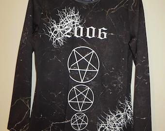 occult//SALEM *2006* printed black marble T