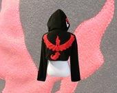 Pokemon GO team Valor Moltres inspired cosplay hoodie (shrug style)