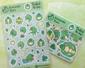 Patrick the sheep stickers - Luck from Ireland - Hand-drawn planner stickers - St. Patrick's Day - Green