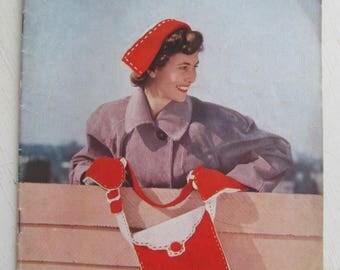 Vintage STITCHCRAFT MAGAZINE~Feb 1950~Wonderful patterns to make your own 1950s originals! Good, complete condition