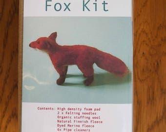 Needlefelted Fox Kit