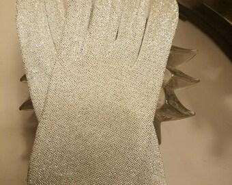 Vintage Glitter Gloves