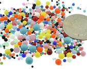 Ballotini Undrilled No Hole Bead Glass Balls Repair Mix Lot Kit Mixed Colors and Sizes 144 pcs Piece 1 Gross Vintage Design
