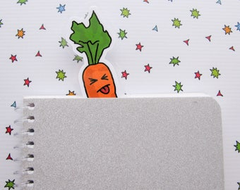Carrot Bookmarker, Bookish Vegetable, Book Lovers Gift, Funny Gift, Reader Gift, Gift for Her, Gardening Lover