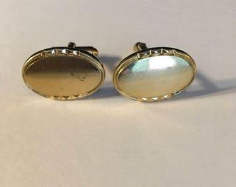 Vintage Anson cufflinks goldtone oval