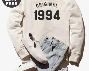 24th birthday for gift sweatshirt 1994 sweater graphic tee shirt pullover sweatshirt crewneck sweater birthday sweatshirt women sweater men