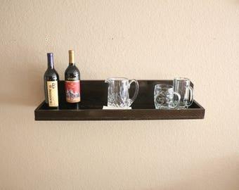Rustic Wood Shelf, Picture Ledge, Wooden Floating shelf, Wall Shelf, Open Shelving, Decorative Picture Shelf