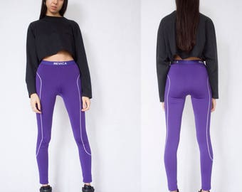 PURPLE LEGGINGS -activewear, sporty, cyber, aesthetic, y2k, club kid, jogging, gym, adidas, nike, joggers, pants-