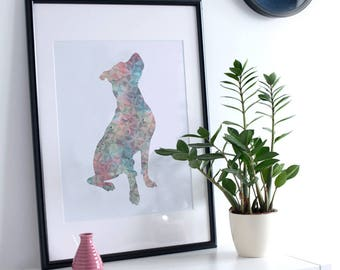 Pit Bull Dog Print / Pitbull Dog Gifts / Happy Pit Bull Nursery / Pitbull Dog Mom / Pitbull Dog Mom Gifts / Pit Bull Dog Art / Pit Dog Gifts
