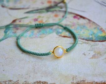 Moonstone Bracelet Gemstones Bracelets Macrame Bracelets Knotted Bracelet Minimal Bracelets Dainty Bracelets Everyday Bracelet Moonstone