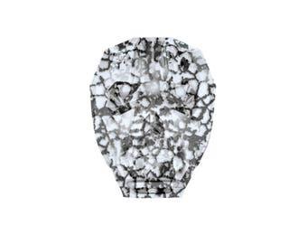 Swarovski Faceted Crystal Black Patina Skull Beads 5750 Swarovski Crystals Black Patina Swarovski Skull Bead 13mm (1 pc) 90V13