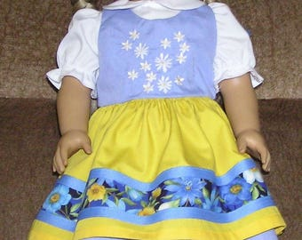 This Swedish Outfit fits the 18 inch dolls.