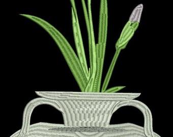iris flower machine embroidery design