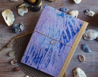 Book l. sea, blue and gold gilt, A5, A6, handmade, customizable