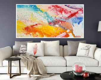 Printable Abstract Art, Downloadable Painting, Instant Download Art, Colorful Modern Abstract  Large Abstract Expressionism Modern  Painting
