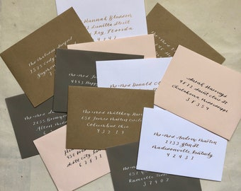Envelope Calligraphy Addressing, Modern Calligraphy, Wedding and Event Calligraphy