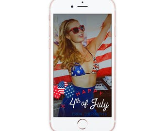 Custom Snapchat Geofilter, 4th of July Snapchat Filter, Happy 4th american fourth Party Geofilter
